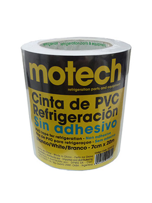 CINTA PVC MOTECH S/ADHESIVO BLANCA 70MM X20M