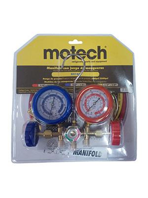 MANIFOLD MOTECH C/VISOR Y MANGUERAS 90 CM - R410A
