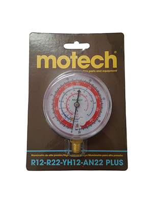 MANOMETRO DE ALTA MOTECH R12/R22 - 1/8NPT
