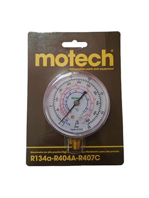 MANOMETRO DE ALTA MOTECH R134a/R404A/R407C - 1/8NPT
