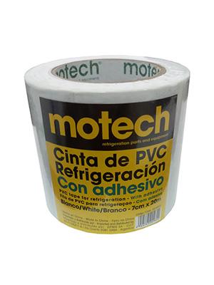 CINTA PVC MOTECH C/ADHESIVO BLANCA 70MM X 20M